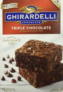 Amazon/Ghirardelli ギラデリ トリプル チョコレート ブラウニー ミックス特大3.4Kg(6袋x 566g)【並行輸入品】